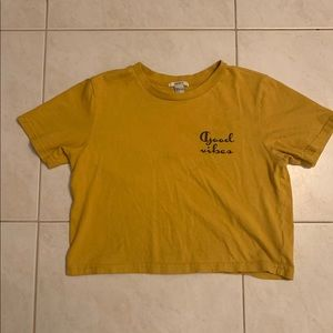 mustard color shirt